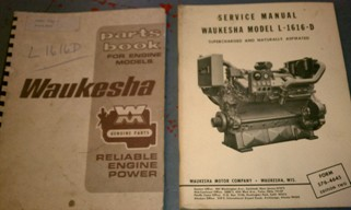 Waukesha L1616 Parts Manual and Servcie Manual